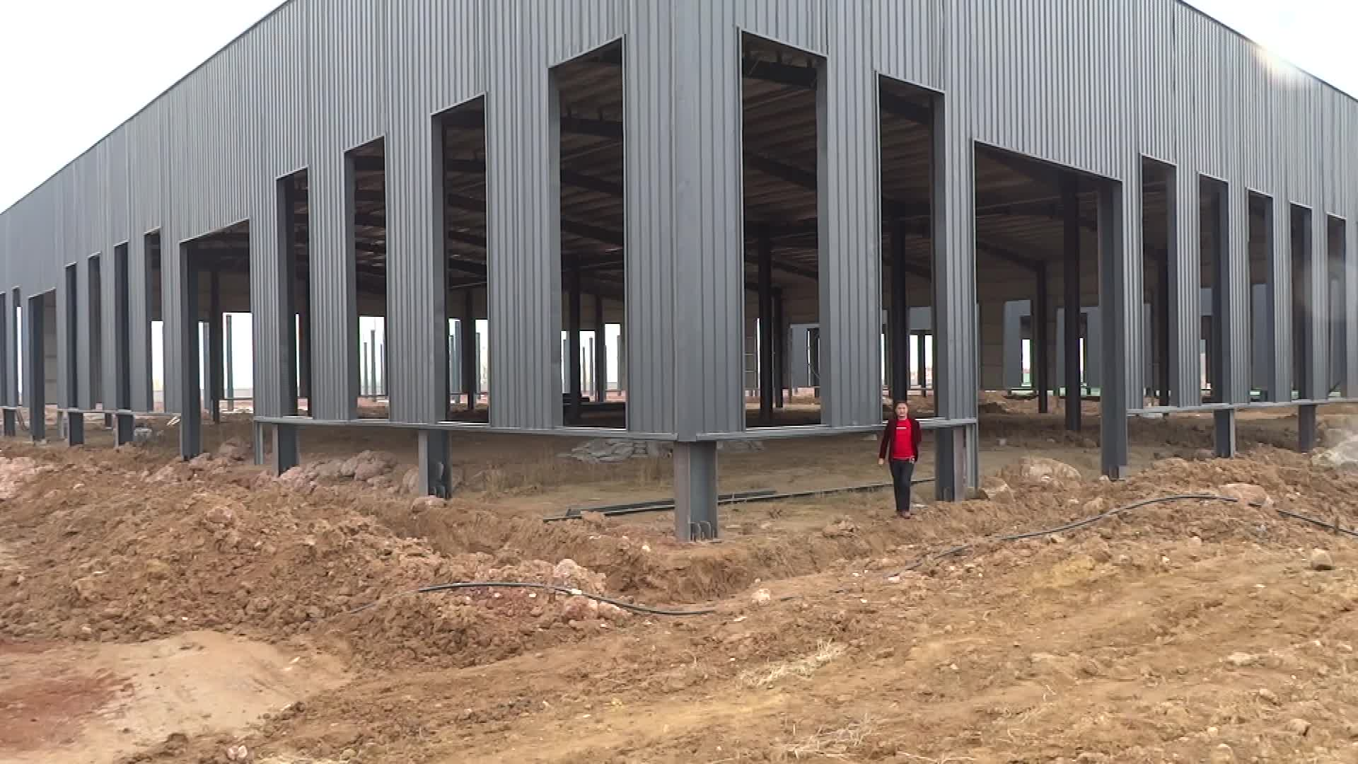 prefabricated rack tent steel building warehouse low price source