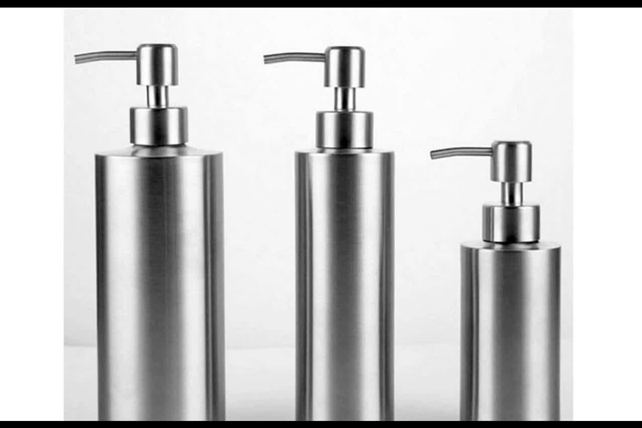 Stainless Steel Hand Soap Dispenser Bathroom Shower Gel liquid bottle Stainless steel soap bottle 48PCS/CARTON