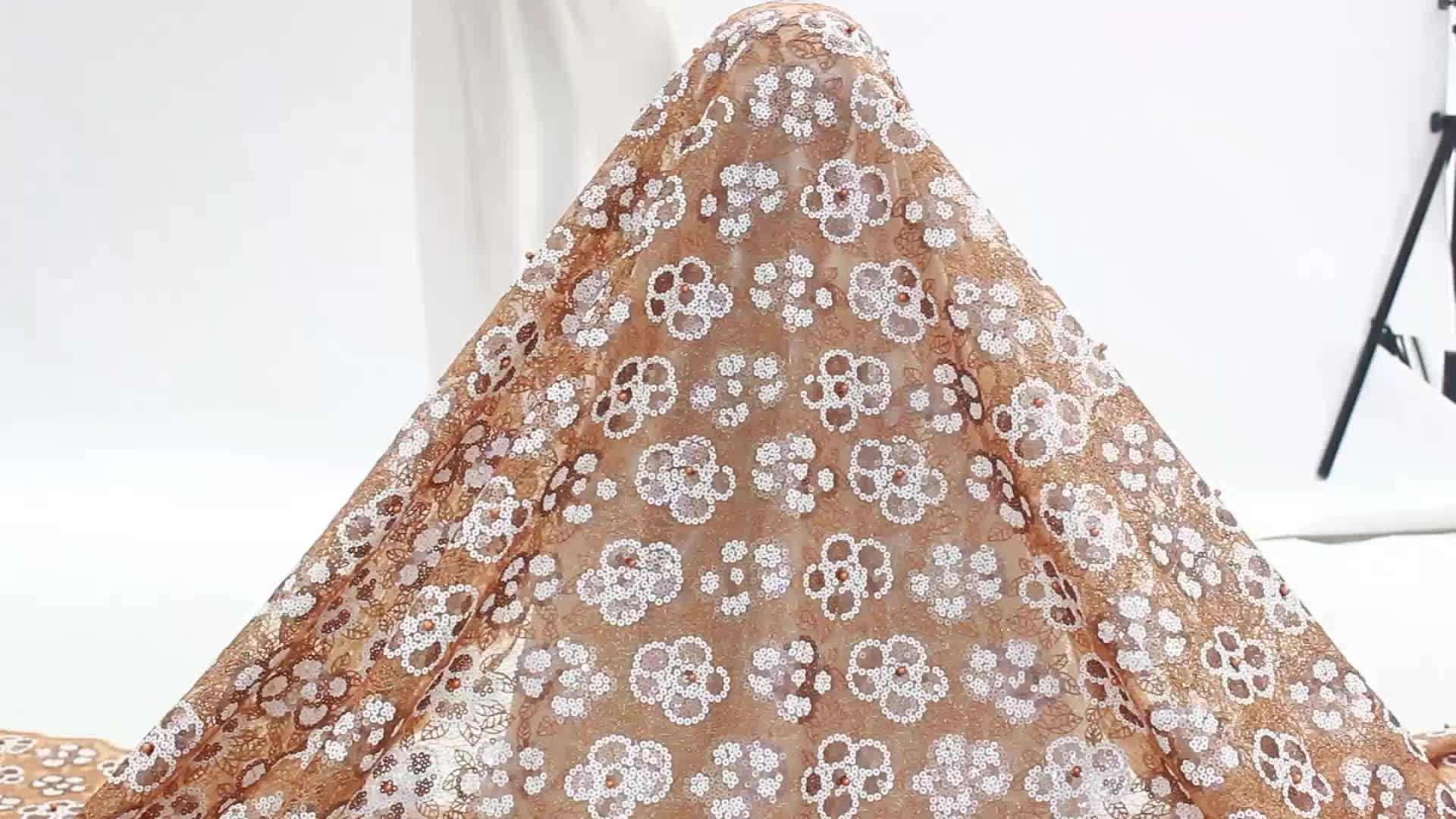 Bestway Lace Latest French Tulle Net Nigerian Sequin Lace Fabric