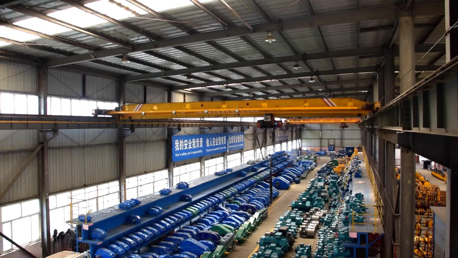 WEIHUA 10 tonnen Kapazität Einzigen Strahl Girder Overhead-brücke Kran mit Spannweite 16,5 m und Heben Höhe 9m