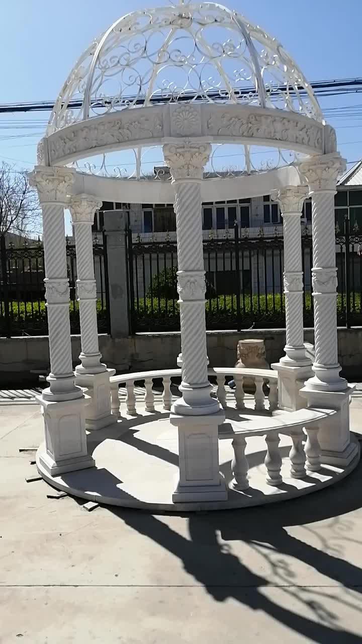 High Quality Garden Marble Pavilion Sculpture In Stock