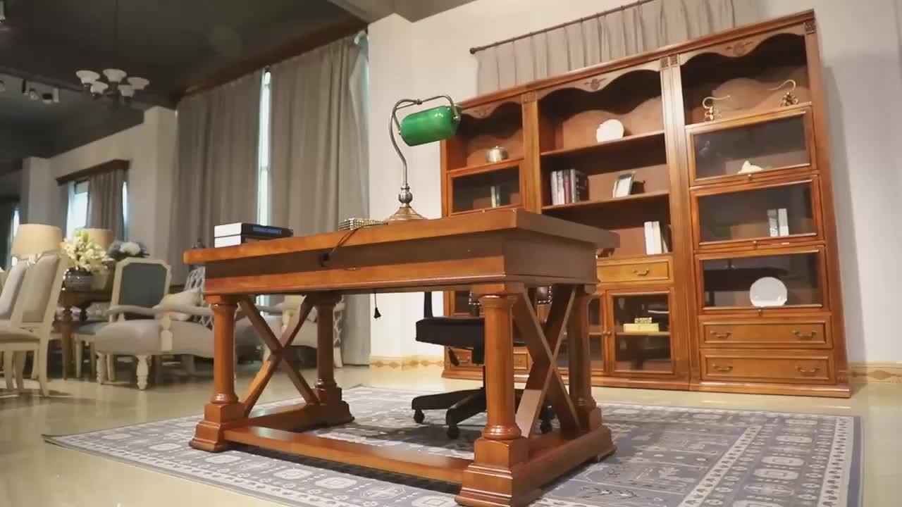 2048-189 木製本革ゴムキャスタースイベルオフィス書き込みチェア