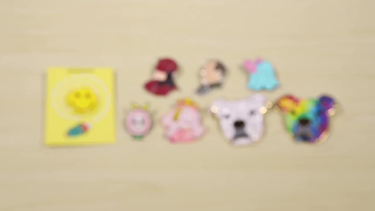 Hot selling custom logo printing epoxy coating lapel pin