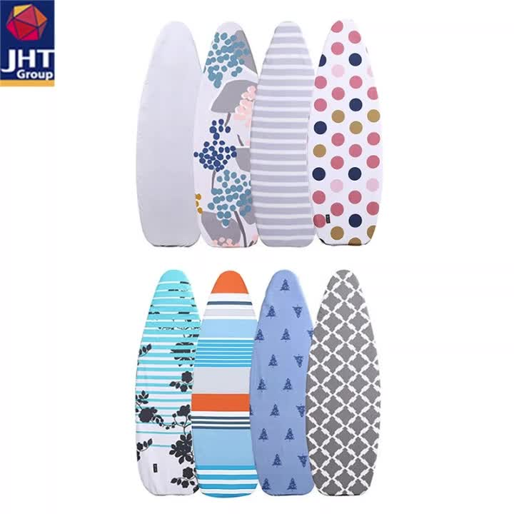 Cotton Printed Ironing Board Cover & Pad Extra-thick Elasticated Heat Reflecting iron board cover custom
