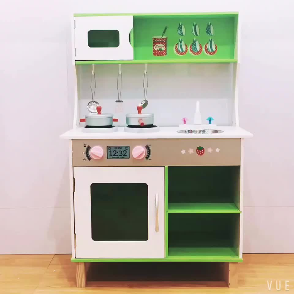 Kitchen Set For New Home: Weifu New Fashion Educational Miniature Wooden Kitchen