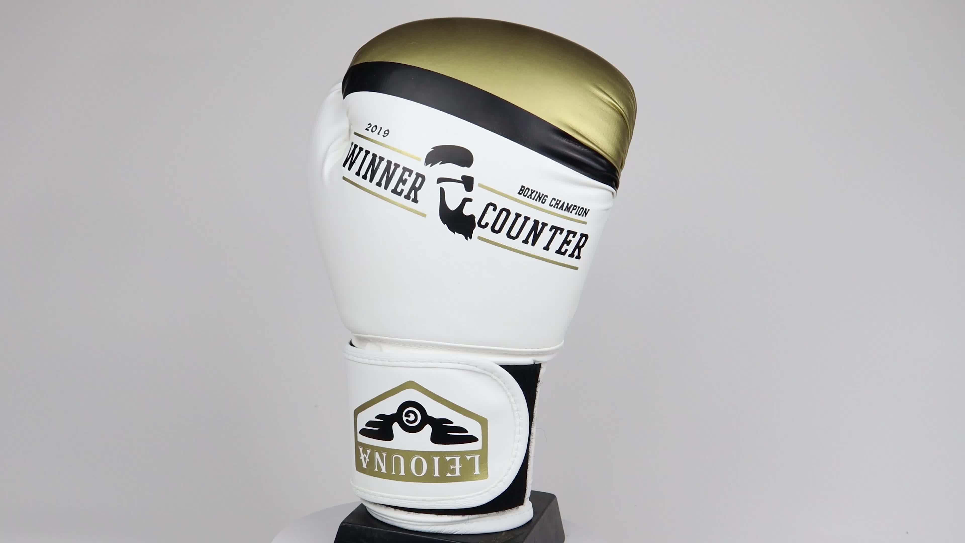 Gants de boxe personnalisés en cuir gants de boxe d'entraînement professionnel d'hiver