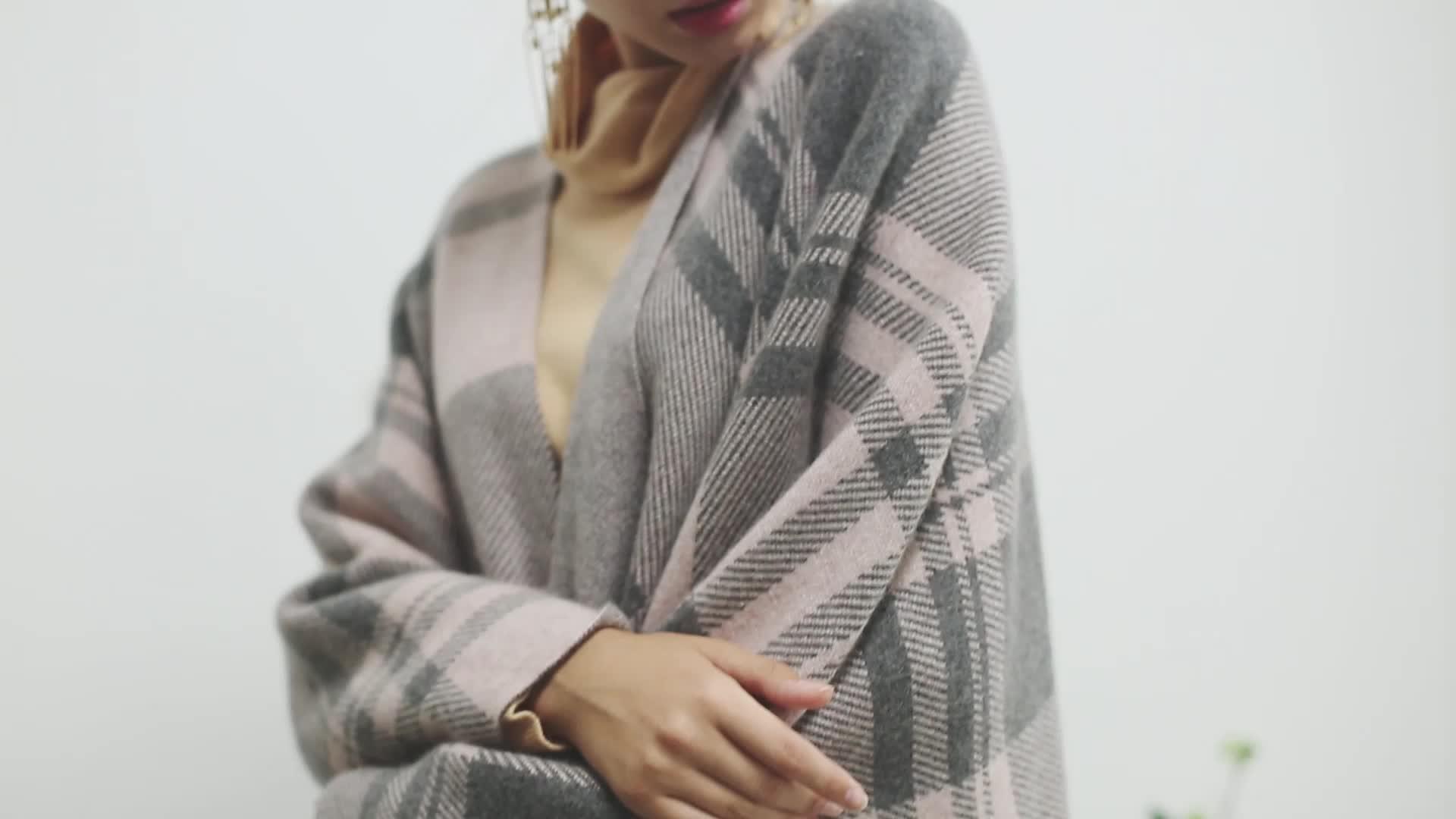 2020 chất lượng Cao cashmere len len đan khăn choàng cổ điển Người Anh kiểm tra khăn cho Giáng Sinh Mềm Cảm Giác Mịn Màng Mùa Xuân/Mùa Thu/ mùa đông