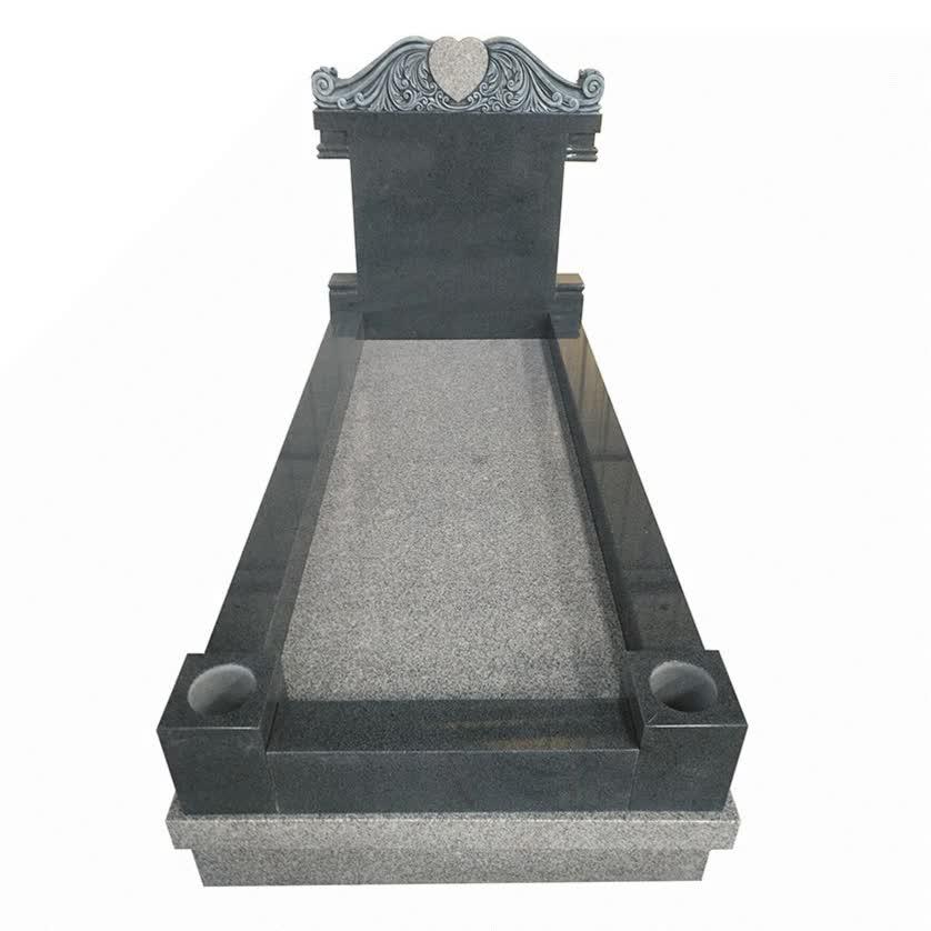 Estilo Europeo g603 g654 monumento de granito lápida Lápida con base