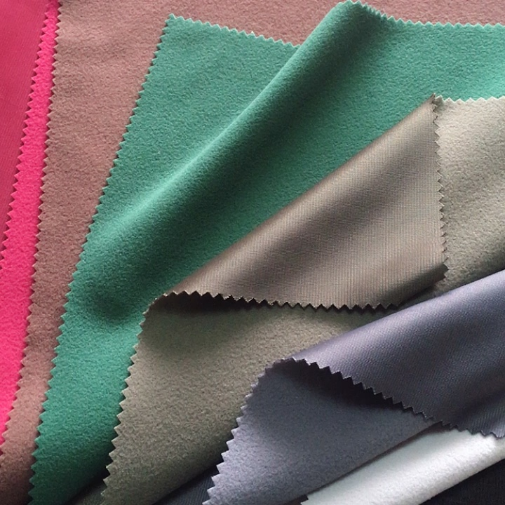 Tricot super brush superpoly fabric 100 changxing for tracksuits school