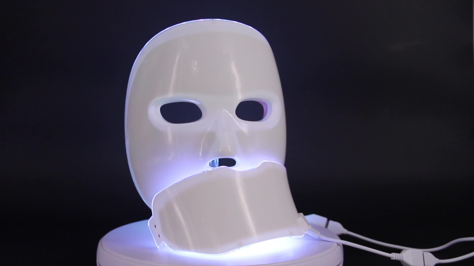 PDT LED light therapy machine photon facial neck mask