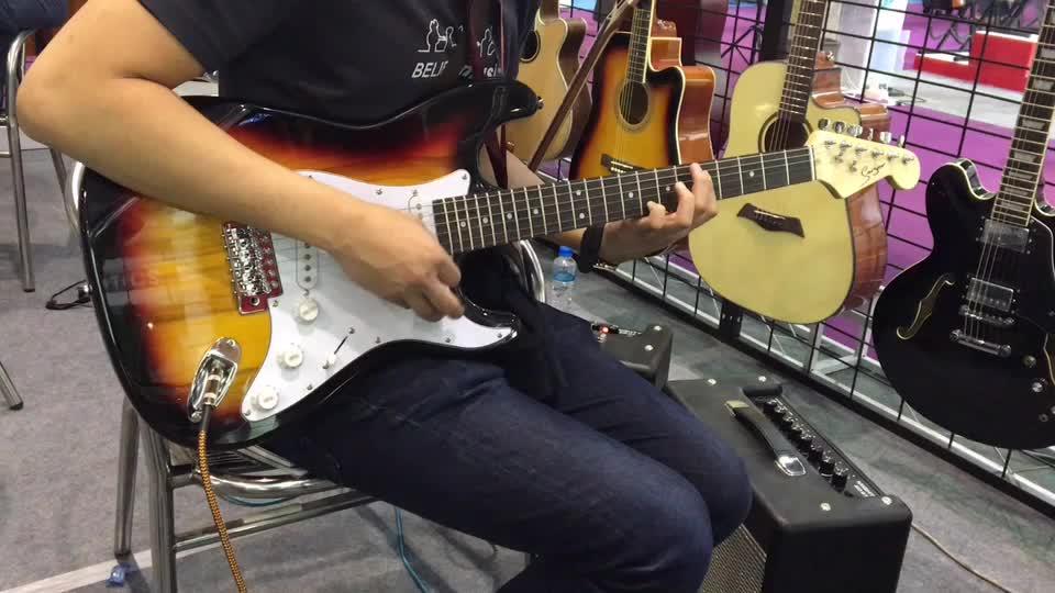 Özel acemi st elektro gitar paketi gitar kiti toptan fiyat