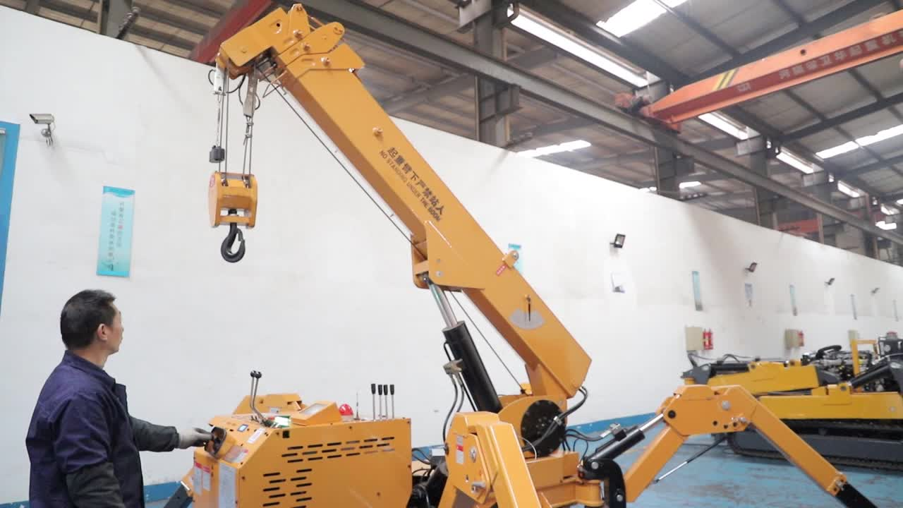 Foldable 3tons mini crawler crane with CE certificate and quality guaranteed