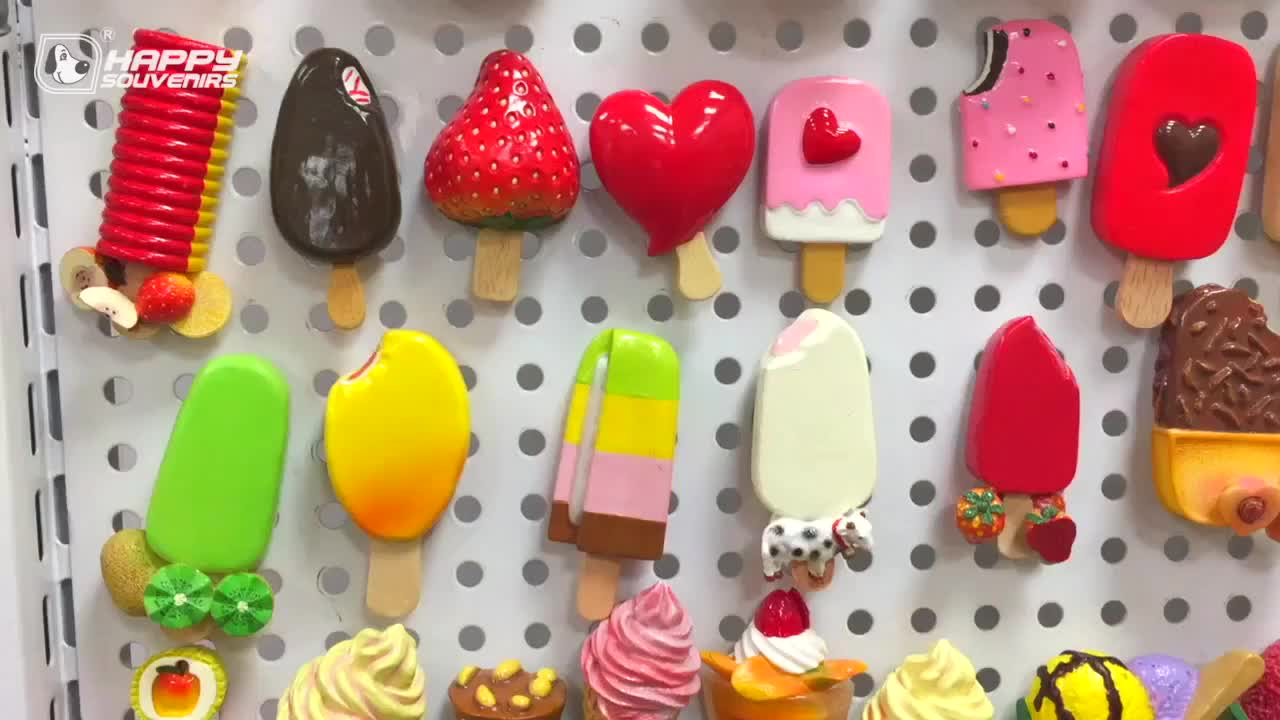 Hot Sale Ice Cream Strong Fridge Magnets Cake Magnet Wholesale for Kitchen Home Decorations