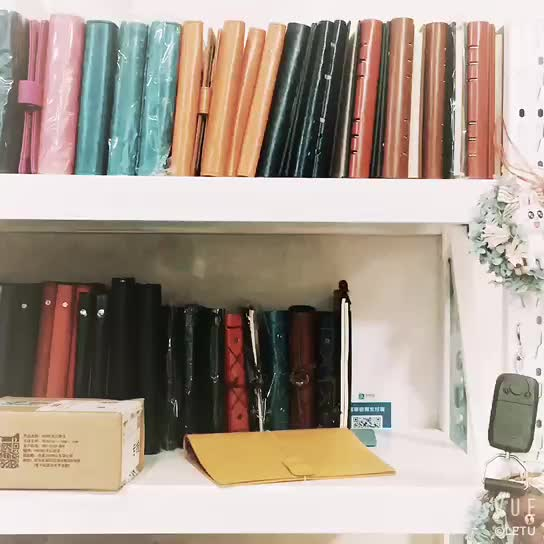 2018 hot color edge picture cover notebook gift custom leather a5 notebook paper inner notebook for school office business
