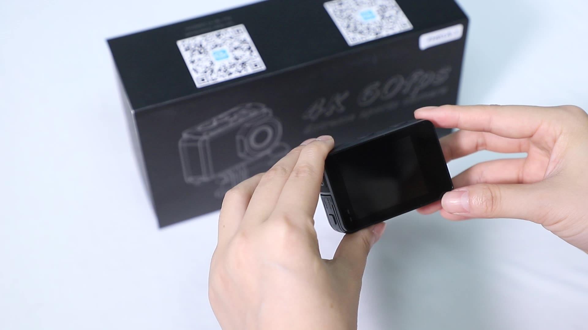 リアル 4 18K 60fps ボディ防水 IMX078 デュアルタッチスクリーンサポートライブストリームアクションカメラ