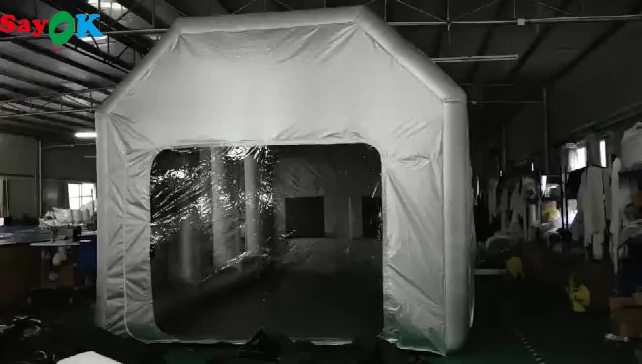 Cheap price automotive mini outdoor mobile used portable car inflatable spray paint booth tent for sale
