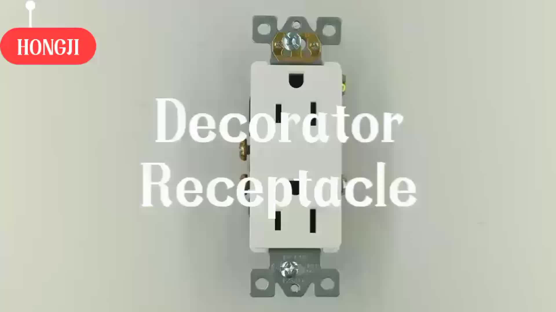 High Quality 15A Self Grounding Double of Wall Receptacle