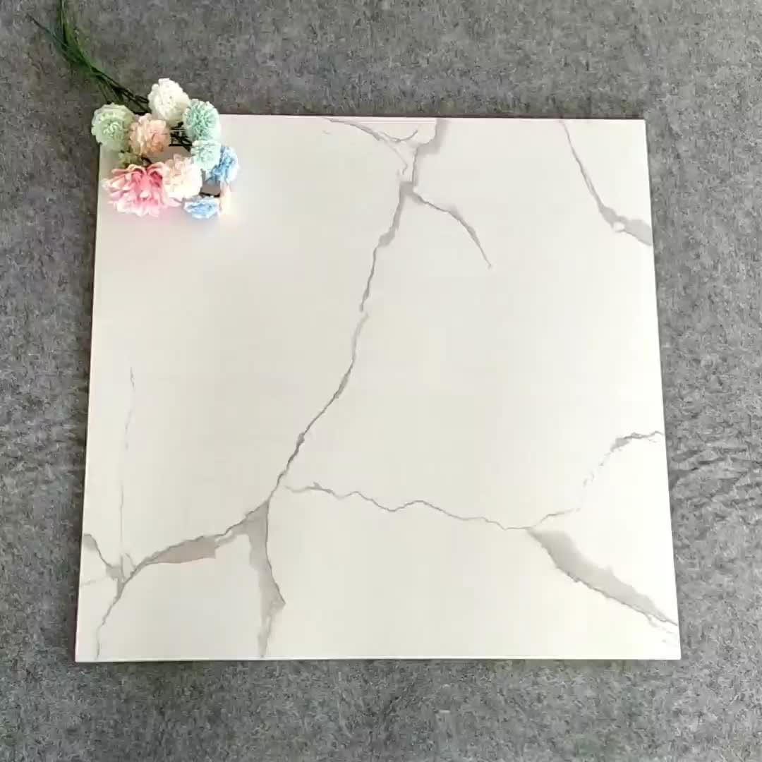 Schneeweiße voll polierte glasierte Boden- und Wandfliesen aus Keramik