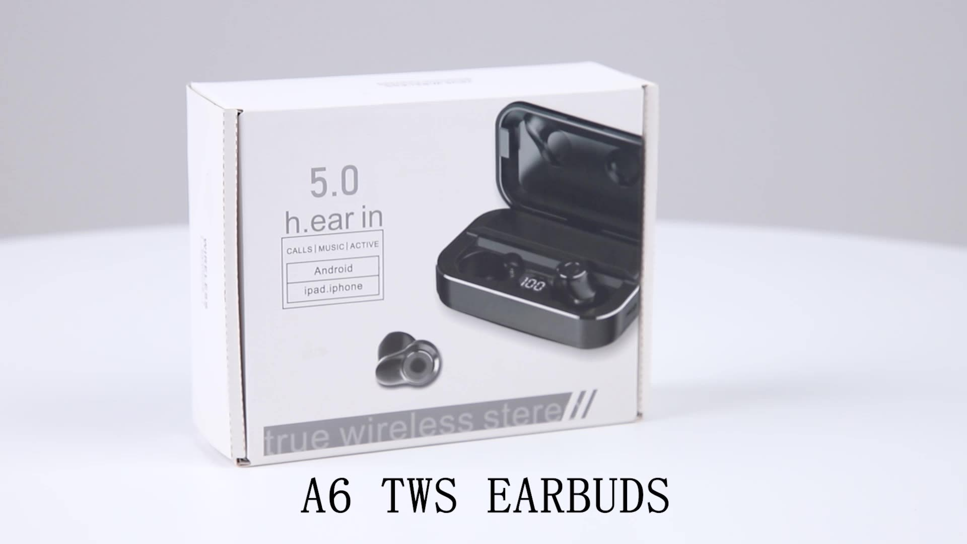 Nieuwe Collectie A6 Led Display Tws Oordopjes Handenvrij Draadloze Hoofdtelefoon In-Ear Bluetooth Oortelefoon Met Power Bank