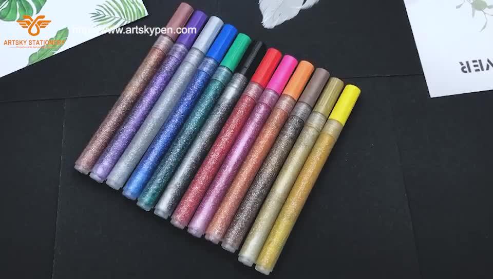 Scintillio Del Gel Penna Set, 100 di Scintillio Del Gel Penne più 100 Ricariche Glitter Neon Penna per Libri Da Colorare Mestiere Scarabocchi Disegno