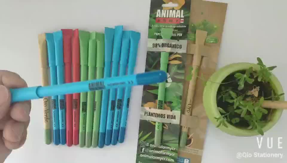 suntainable eco friendly recycled seed pen and plantable seed ball pen