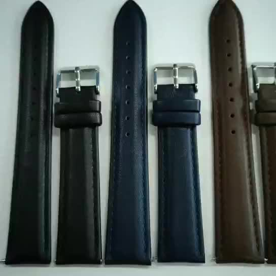 Custom 18mm 20mm 22mm 24mm Quick Release Genuine Leather Watch Band Replacement Straps