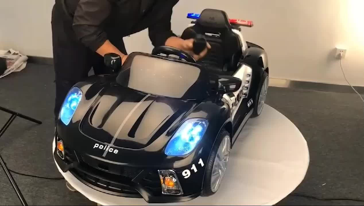 Newest Factory Price 12V Electric polic car children ride on Vehicle
