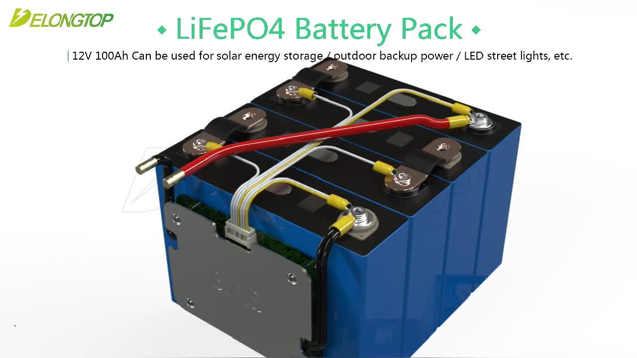 3.2V Tensione Nominale e Formato Flessibile 3.2v 100ah lifepo4 batteria