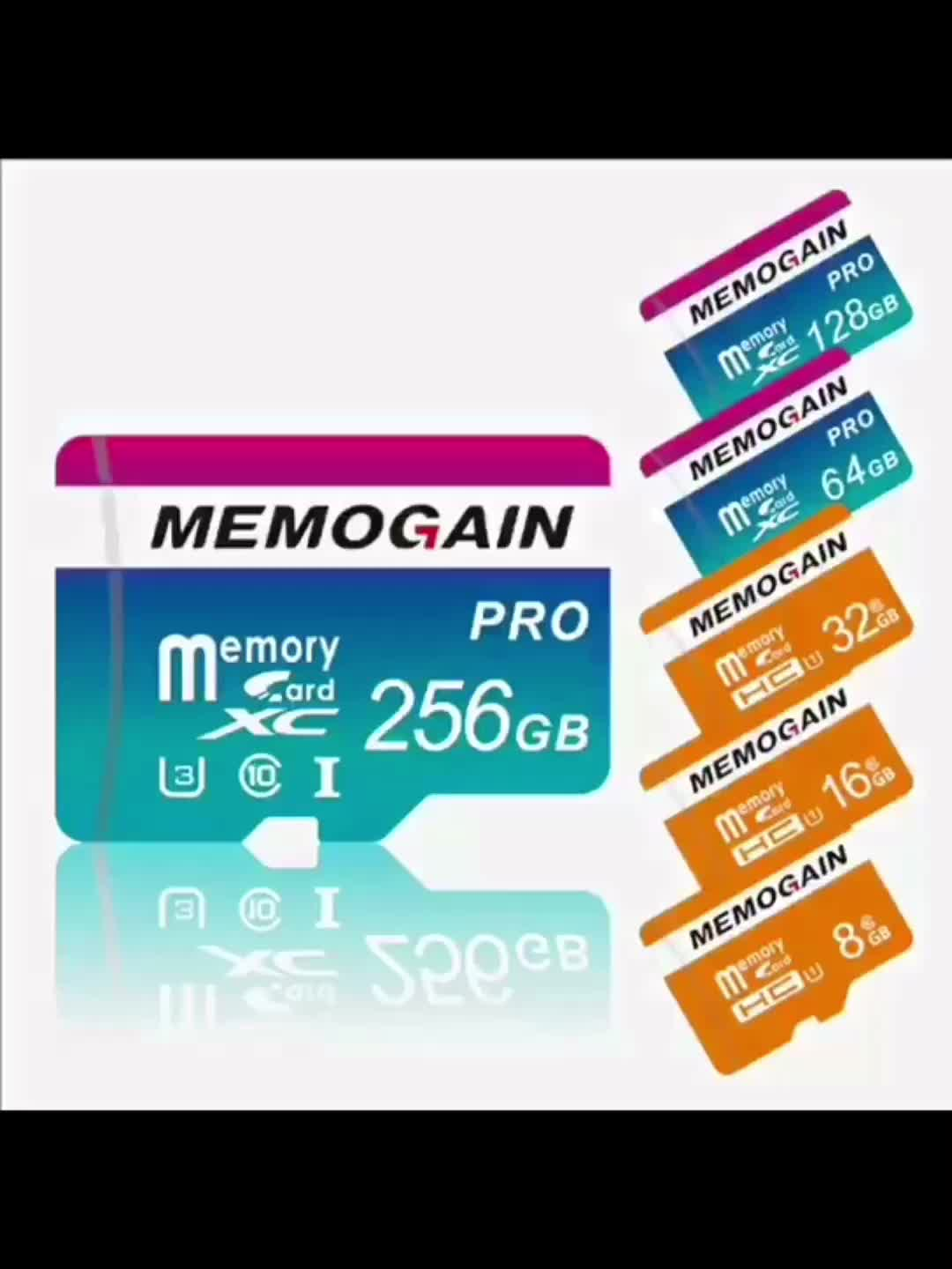 Original High Quality 100% Capacity SD 256GB Tf Memory Card for Mobile phone