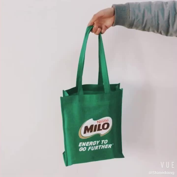 Low MOQ Eco Friendly Promotion Type Custom Logo Printed Reusable Non Woven Grocery Tote Bag