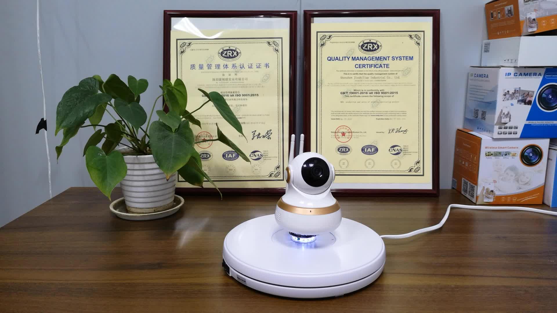 सुरक्षा वाईफ़ाई कैमरा P2P 1080P HD रिमोट पैन झुकाव नियंत्रण