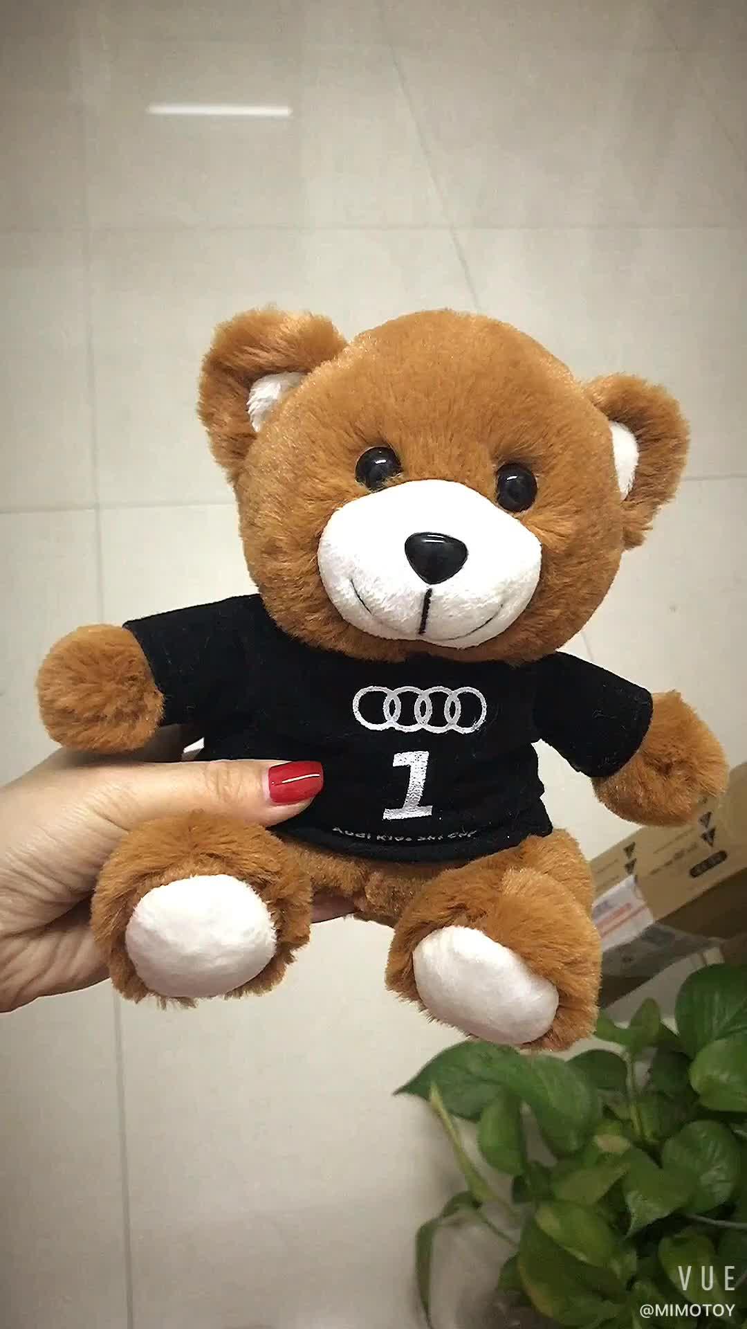 2018 Promosi Hadiah Mainan Plush Teddy Bear Kaos Dengan Logo Grosir Murah Lucu Kustom Boneka Lembut Anak-anak Mainan Mewah teddy Bear