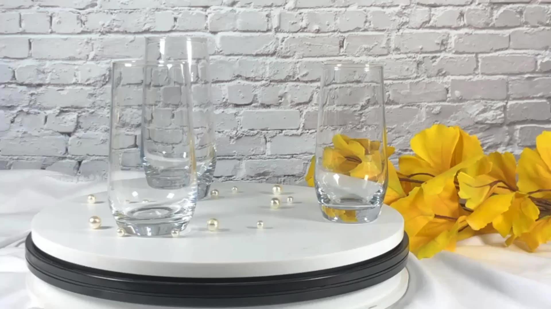 हस्त शिल्प काढ़ा 17 औंस लंबा लड़का ग्लास स्पष्ट कप स्वनिर्धारित लोगो मुद्रण के साथ कर सकते हैं