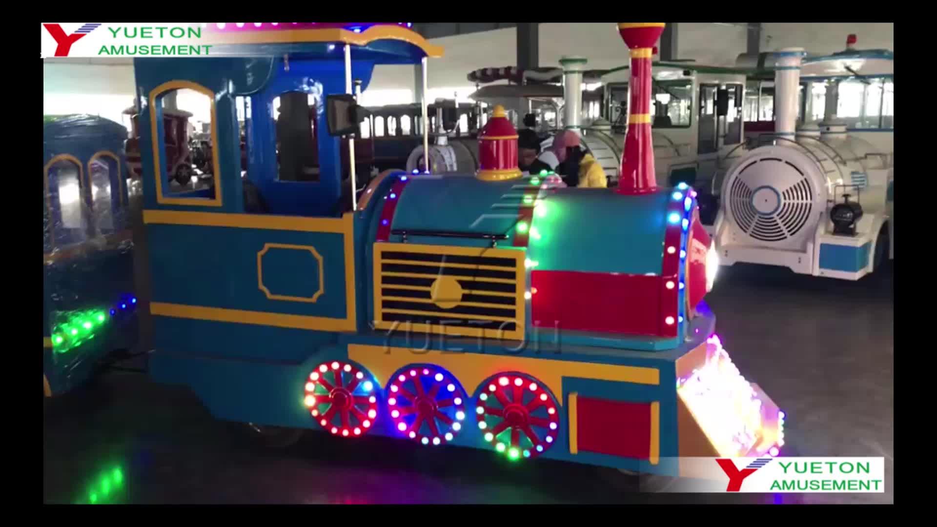 Outdoor Carnival Mall Plans Wattman Adult Set Small Kids Rides Tourist Electric Mini Amusement Park Trackless Train For Sale