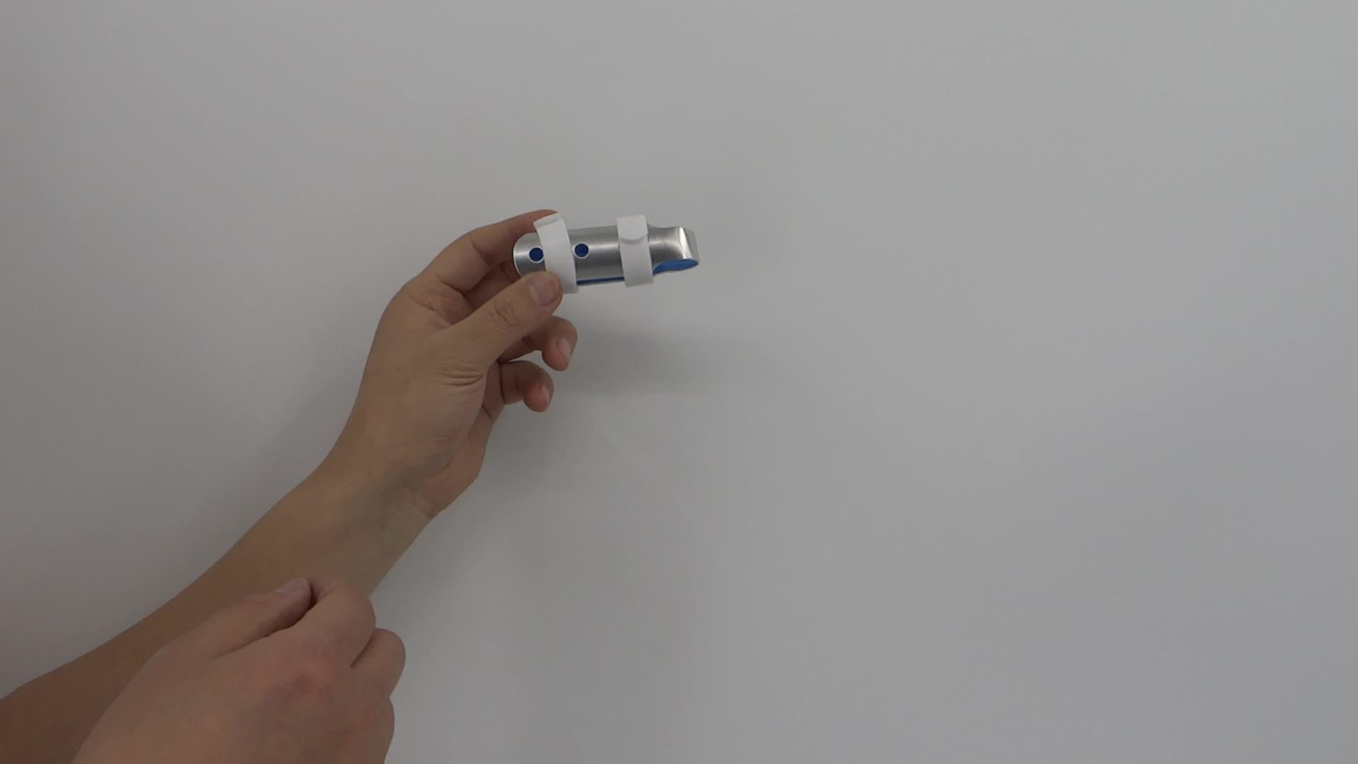 Attelle de doigt de maillet S M L taille avec mousse en aluminium doigt attelle de main vente