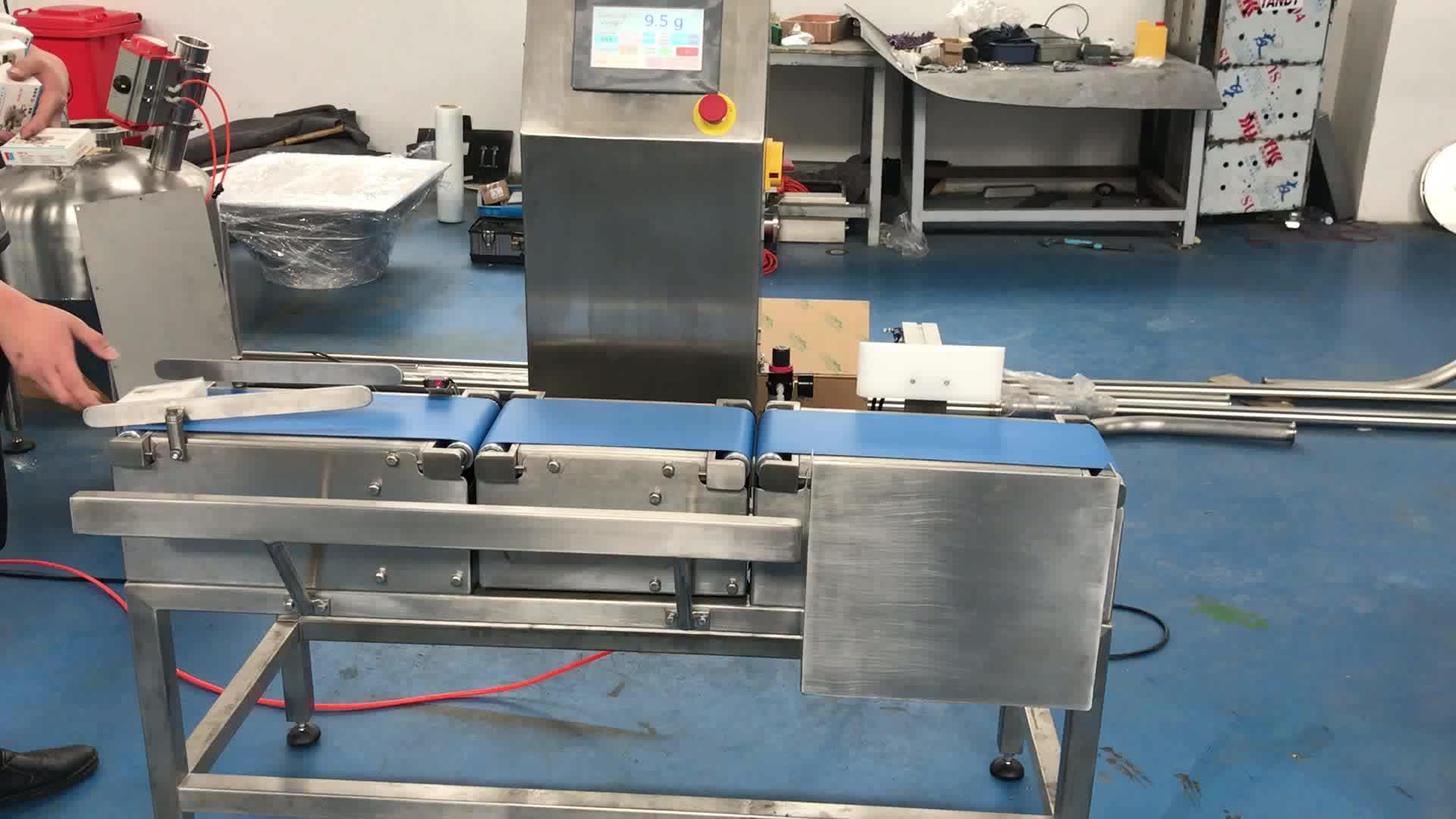 Nastro Trasportatore Cibo Controllo del Peso di Pesatura per i Pesci Della Caramella a base di Carne