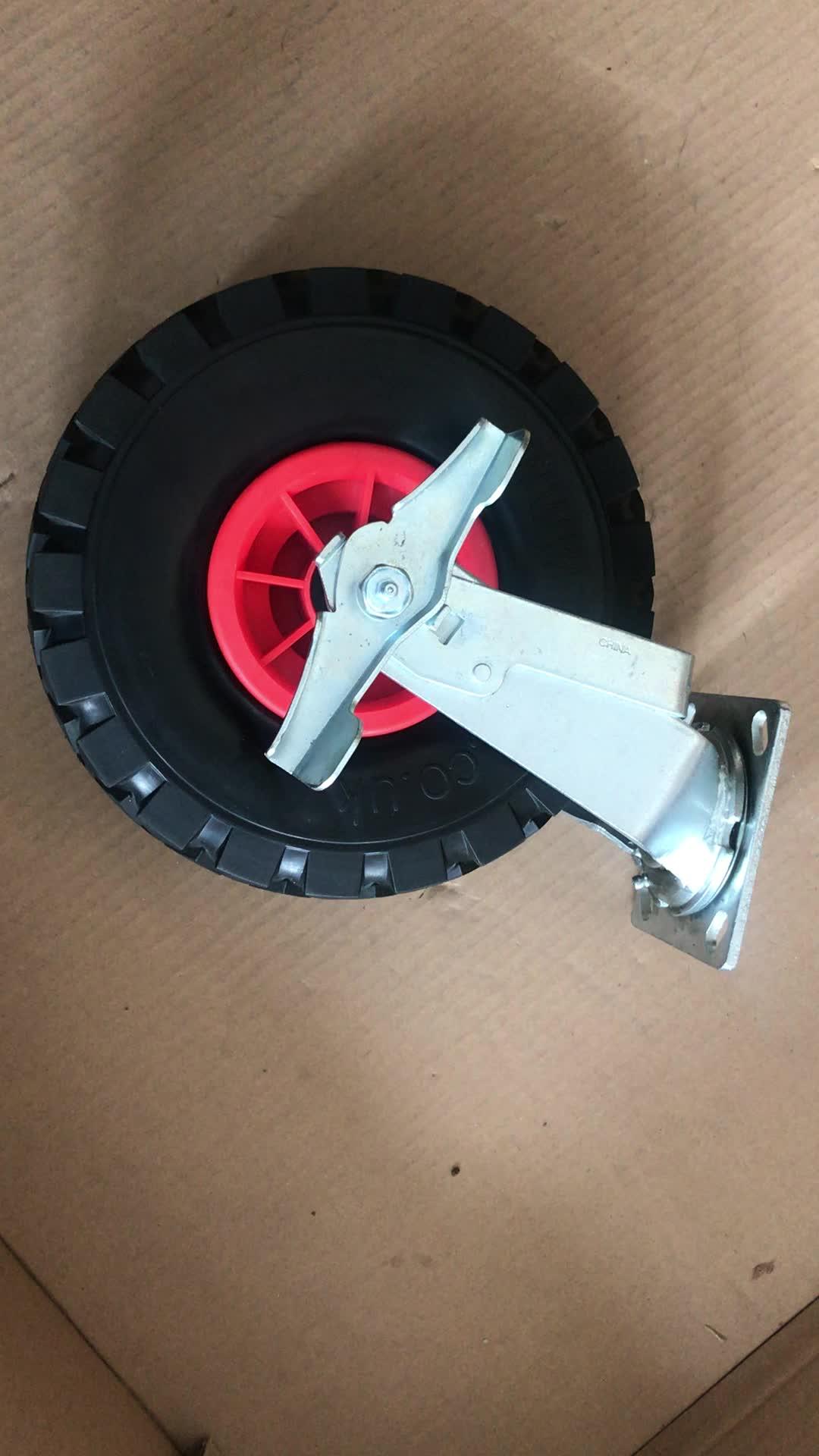 "10"" 12"" PU Solid Cart Castor Omni Beach Wheel"