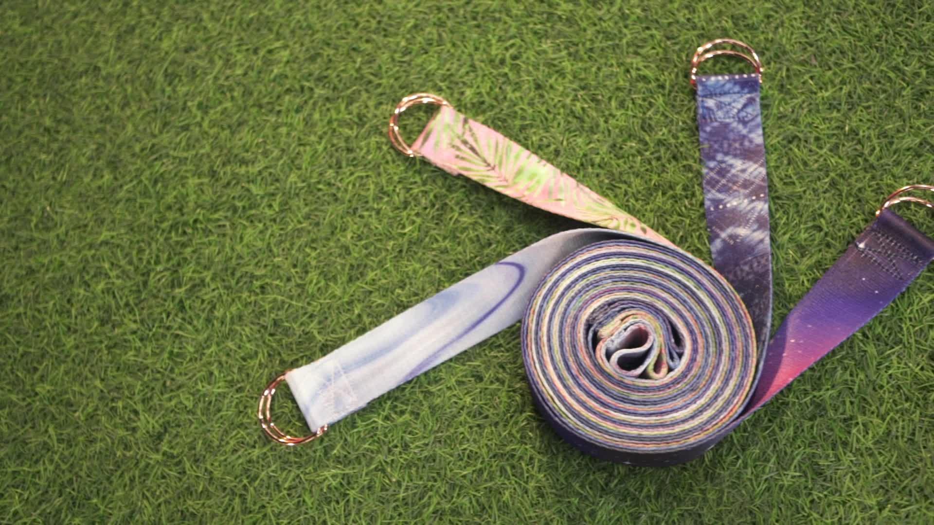 מותאם אישית ניילון כותנה יוגה מתיחת רצועת עבור מחצלת