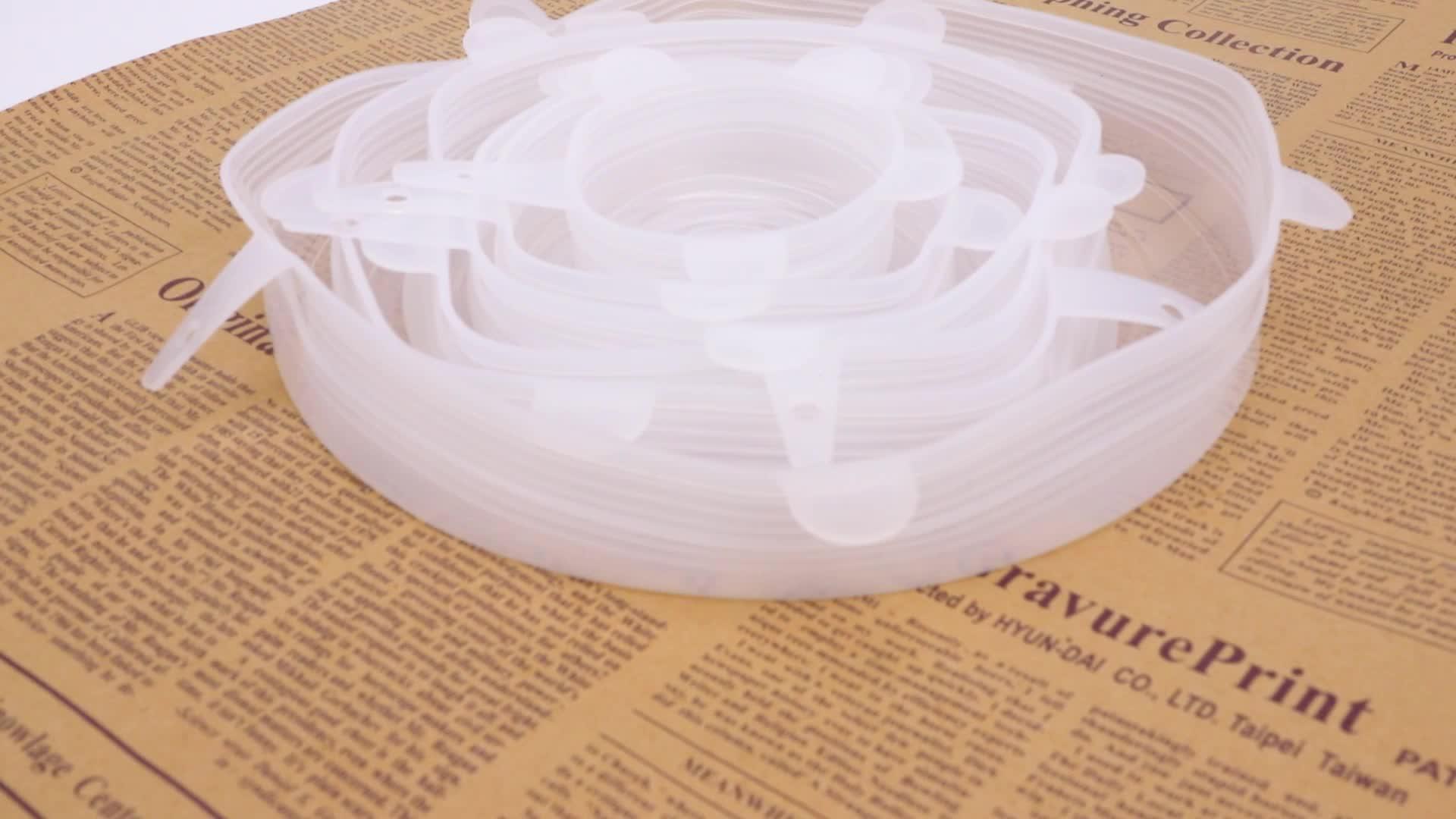 Food grade seal stretch lids silicone food wrap