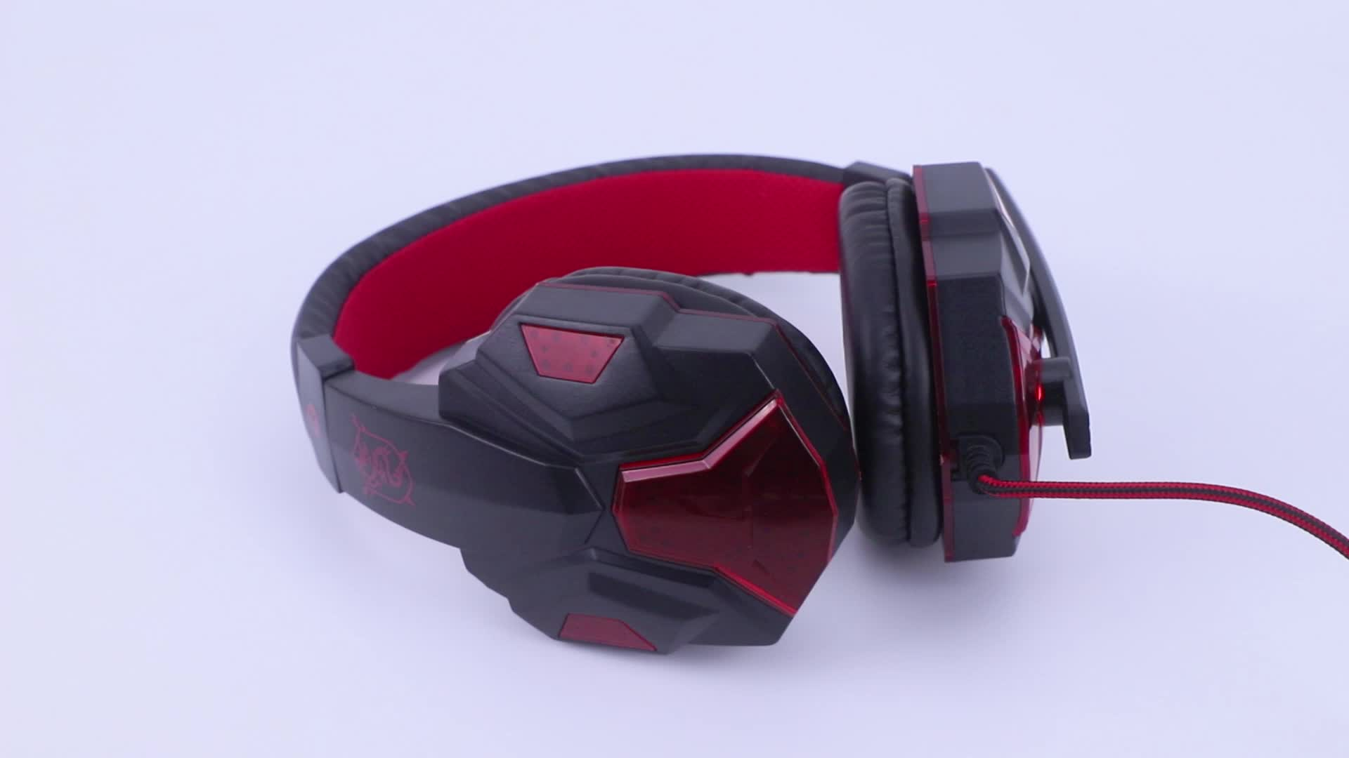 high quality over ear wired computer gaming headphones headset