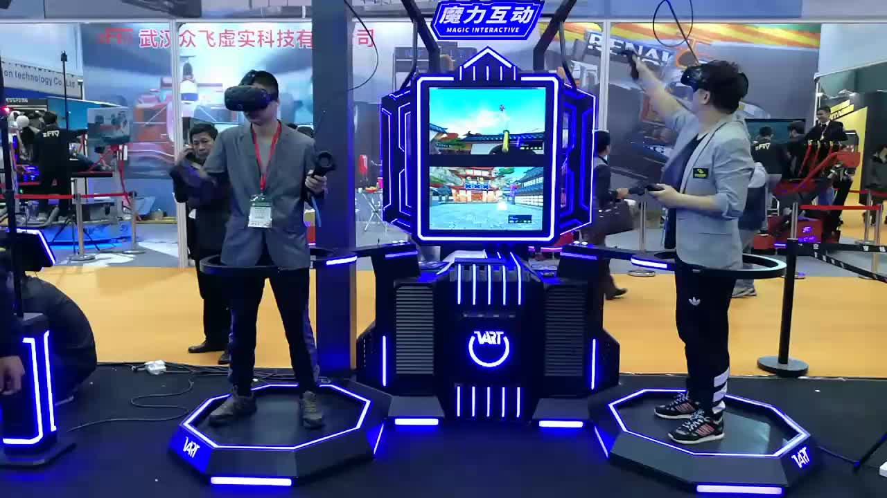 VART HTC VIVE VR Space Walking Platform 9d Virtual Vr Treadmill For Sale For Double Players