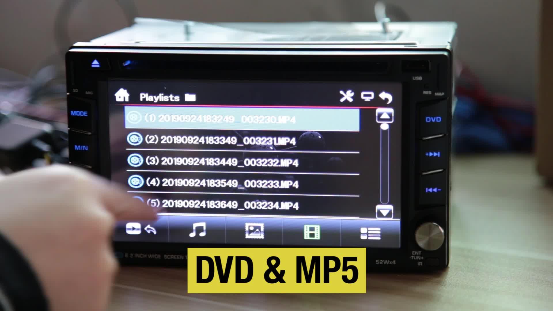 Универсальный 2 din 6,2 дюймовый сенсорный экран GPS bluetooth Автомобильный dvd-плеер