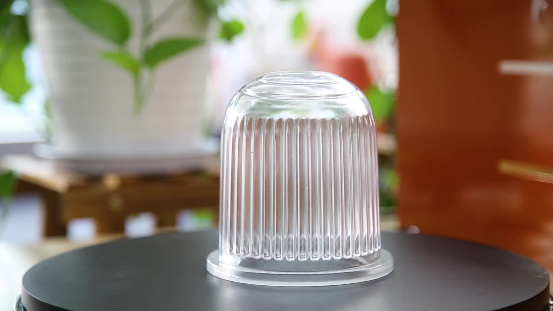 Super thickness outdoor dome glass lamp shade with tempered treatment