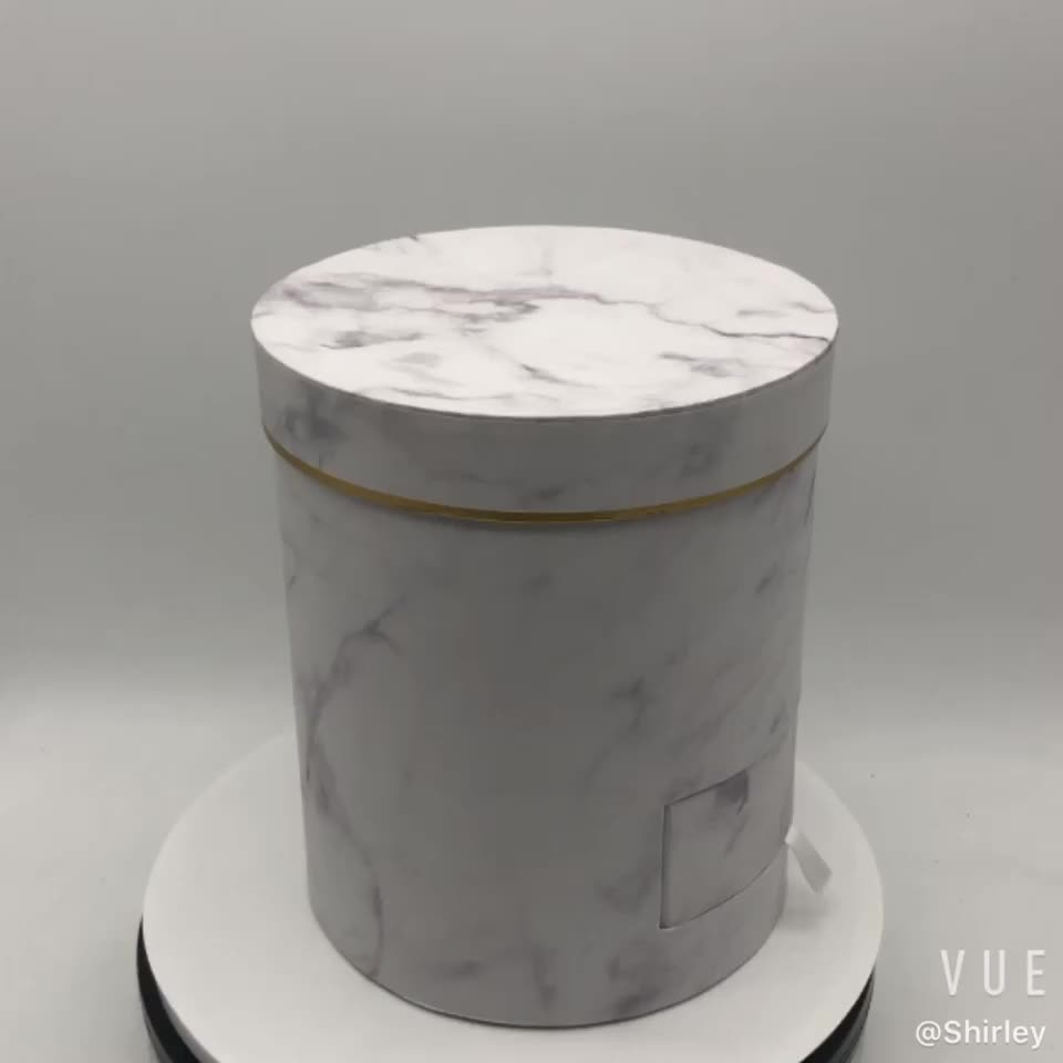 Wholesale Best Selling Marble Circle Cardboard Flower Boxes With Drawer