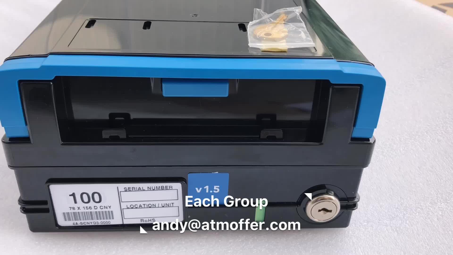 ATM Parts Diebold Opteva Reject Cassette Bin Lock Divert With Key  00-103334-000E 00103334000E