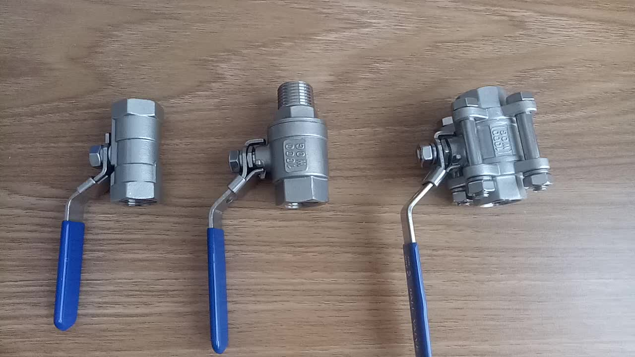 stainless steel socket ball valve 1000wog