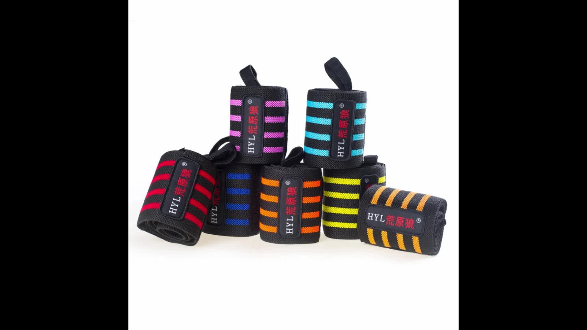 HYL-2633 Power weight lifting wrist support wraps gym bandage straps