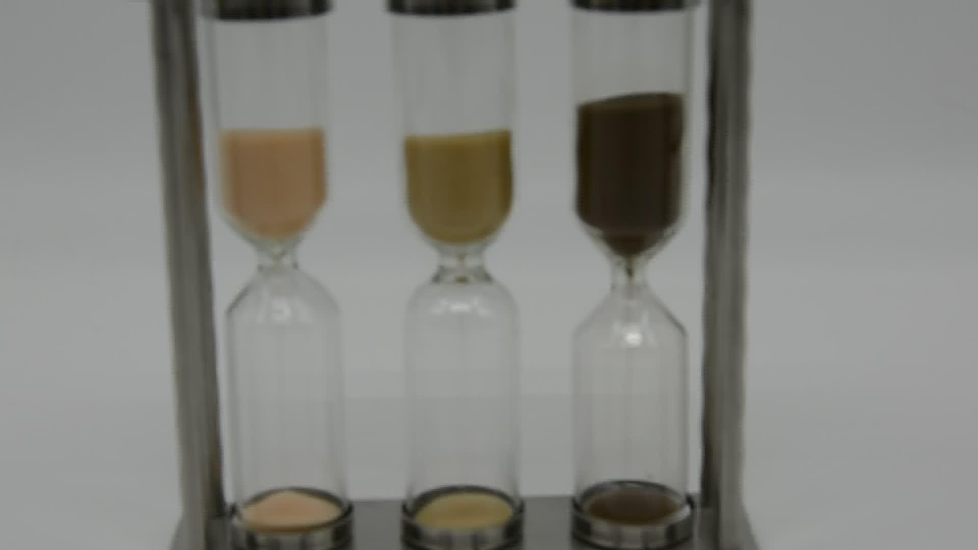 Custom 3 in 1 Hourglasses Metal Sand Timer For Tea