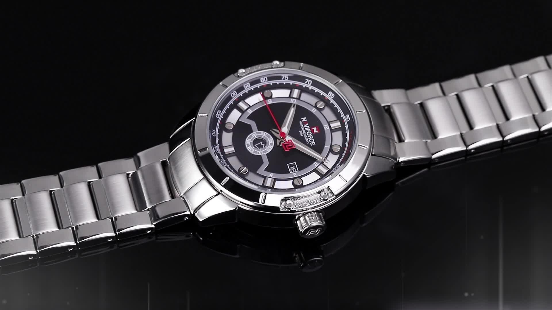 New NAVIFORCE 9166 Men Watches Analog Date Clock Quartz Watch Men Army Military Wristwatch Men Sport Wristwatches Relogio