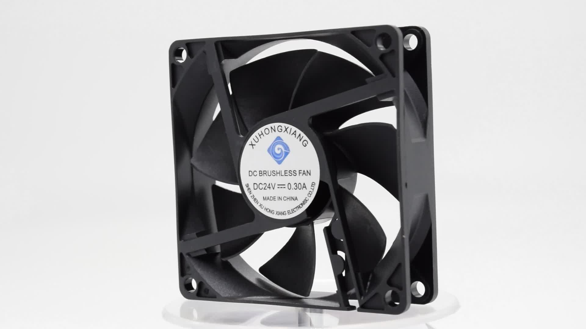 CE ROHS 80 inch 8020 bóng mang 12 v dc nhỏ trường hợp Máy Tính cpu làm mát fan